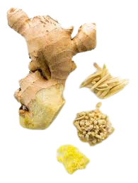 Grated ginger for digestion